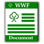 WWF file format computer icon vector image