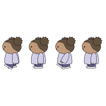 Walking Girl Sprite Sheet Animation