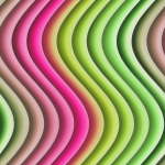 Wavy Stripes Color Background