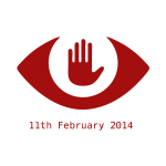 Fight against mass surveillance red sign vector image