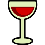 Full wine glass vector image