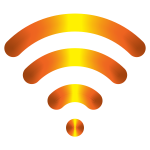 Yellow wireless icon
