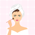 Image of woman applying makeup