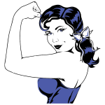 Woman Flexing Muscle
