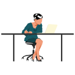 Woman sitting at desk