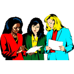 Women working in team