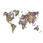 World Map Triangles Prismatic 2