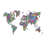 World Map Triangles Prismatic