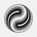 Vector clip art of decorative Ying Yang icon
