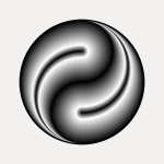 Yin yang in silver color image