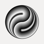 Simple illustration of a traditional Chinese symbol