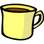 Vector drawing of yellow hot beverage mug