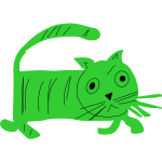 Green Cat Caricature