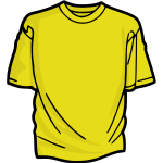 Yellow t-shirt vector graphics