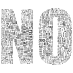 Yes And No Typography 2 Grayscale