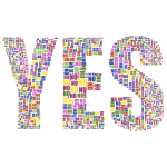 Yes And No Typography No Background