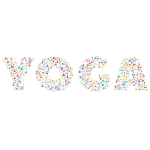 Yoga Typography Chromatic No Background