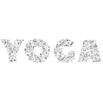 Yoga Typography Grayscale