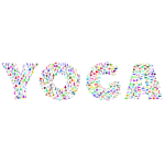 Yoga Typography Prismatic