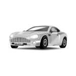 Silvery car vector drawing