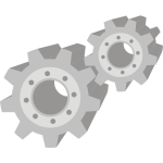 3D mechanical gear vector clip art