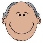 Vector drawing of front of funny male face