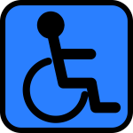 Accessible sign vector image
