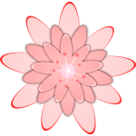 Pink flower vector drawing