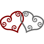 Red & Silver Maori Hearts Interlinked