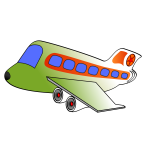 Cartoon image of a passenger plane