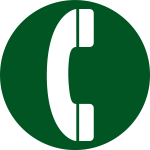 Aiga telephone sign pictogram