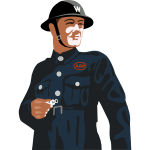 Air Raid Warden vector image