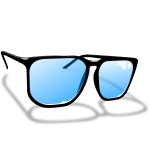 Sunglasses vector drawing