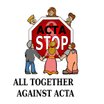 Vector illustration of Stop ACTA