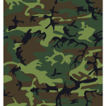 Camouflage army print vector image