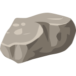 Vector image of a boulder