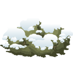 Snowy bush vector image