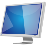 Grey LCD monitor vector image
