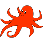 an orange octopus