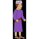 Vector image of royal king in sandals
