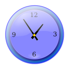 Analog clock vector graphics