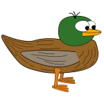 Cartoon young duck vector graphics