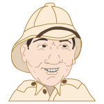 Man with salacot hat vector drawing