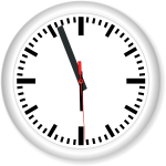 Animated clock image