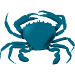 Vector image of blue crab