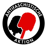 Antifascist toilet brush sign vector clip art