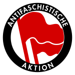 Red and black antifascist clip art