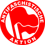 Antifascist action sign vector image