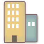 Vector graphics of icon for communal living