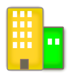 Vector image of housing estate
